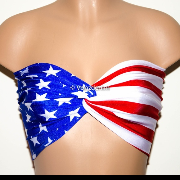 6c6c27e8c1 American Flag Bandeau
